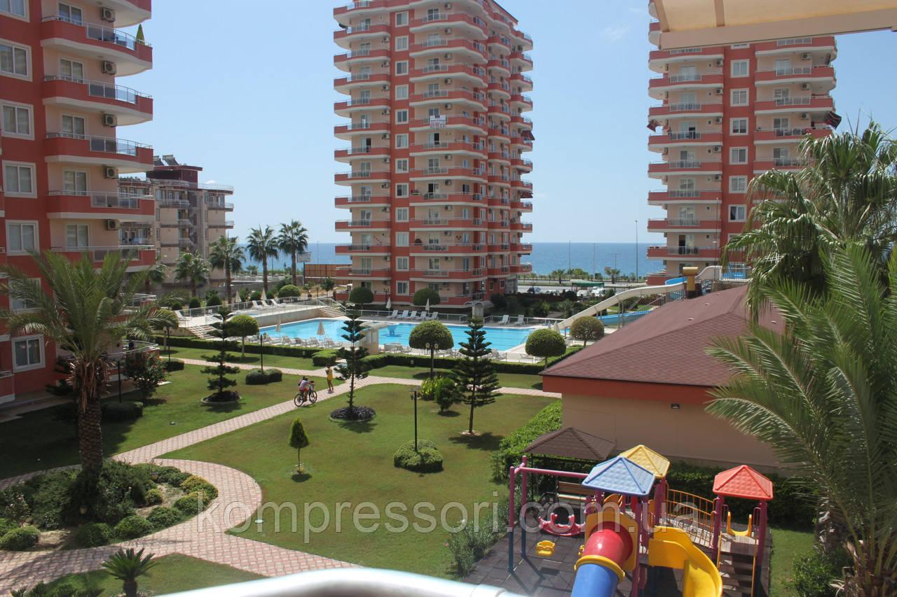 Трехкомнатная квартира в Турции, вид на море