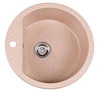 Кухонная мойка Раунд розовый из искусственного камня, фото 1