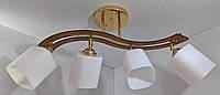 Люстра потолочная на 4 лампочки YR-6032/4-gd, фото 1