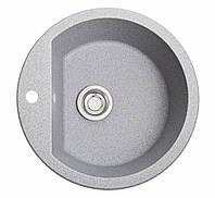 Кухонная мойка Раунд серый из искусственного камня, фото 1