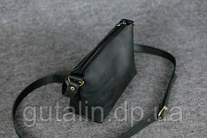 Женская сумка ручной работы из натуральной кожи цвет черный