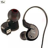 Оригинальные внутриканальные наушники TRN V80 HiFi с микрофоном. (Новинка 2019 года) Черные