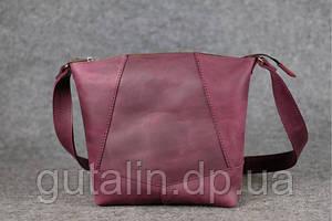 Женская сумка ручной работы из натуральной кожи Comfort цвет фиолетовый