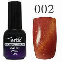 Гель-лак №002 CAT EYES (червоний магнітний) 10 мл Tertio