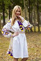Платье в стиле бохо с вышивкой
