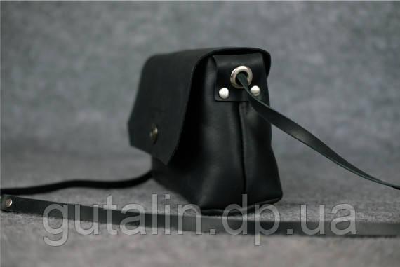 9f13ca270ebe Женская сумка ручной работы из натуральной кожи Клатч на кнопке цвет черный  ...