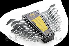 Набор ключей рожковых 6X7мм, 8X10мм, 10X12мм, 12X13мм, 14X17мм, 19X22мм (6шт) СИЛА