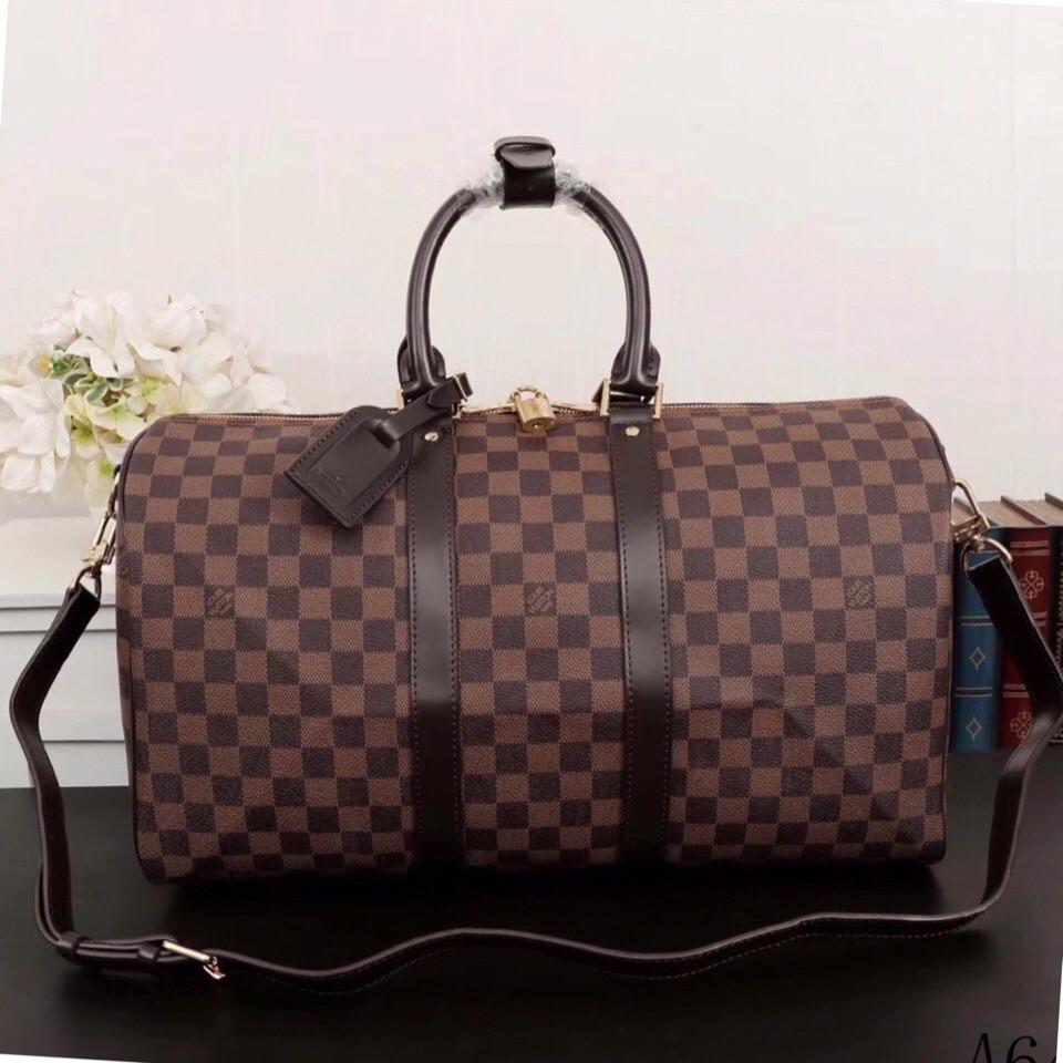 e445a4d59c2f Дорожная сумка Луи Витон, Damier Eben, 45 см, кожаная: продажа, цена ...