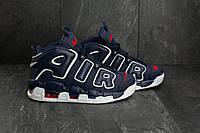 Фирменные мужские кроссовки Nike Air More Uptempo Реплика  Кожа прессованая, фото 1