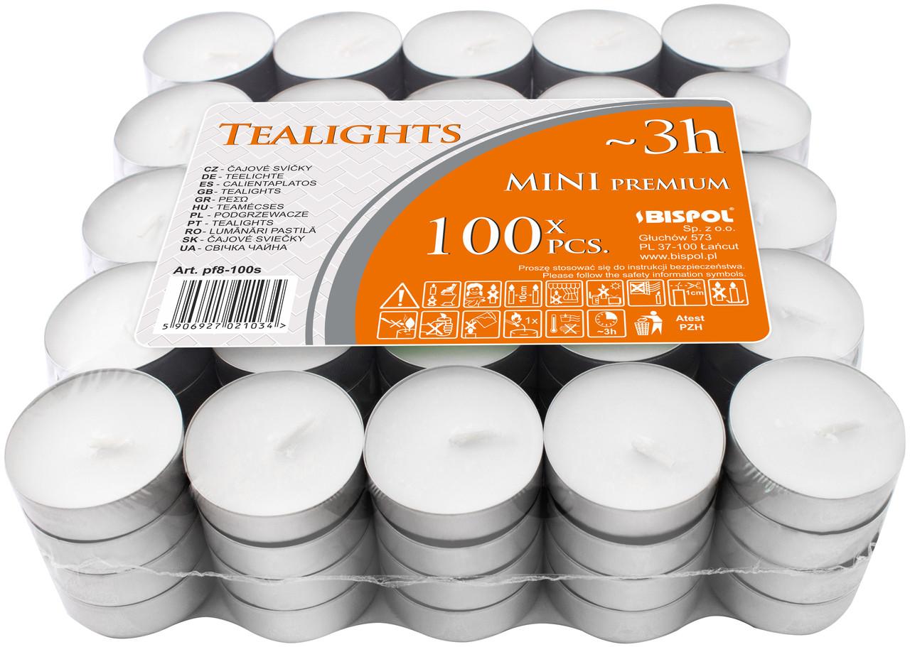 Свеча чайная 3h (таблетка) 800 шт, BISPOL