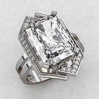 Кольцо  женское серебряное Красота