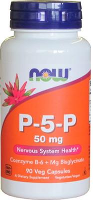 Піридоксаль-5-Фосфат, Now Foods, P-5-P, 50 mg, Vegetarian 90 vcaps