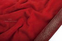 Мех дубленочный Интерфино на замше красный