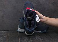 Кроссовки А1881-4 Adidas Clima Proof (зима, мужские, кожа прессованая, синий), фото 1