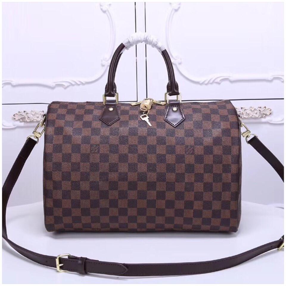 49ecf9988790 Сумка Louis Vuitton Луи Витон Speedy, канва Damier Eben, 35 см ...