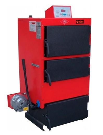Стальной твердотопливный котел с ручной загрузкой топлива. RODA RK3G - 80 кВт (РОДА)