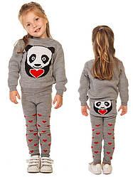 """Костюм детский шерстяной """"Литл Панда"""" (свитер + гамаши), для мальчика, цвет серый"""