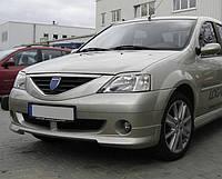 Накладка на передний бампер для Dacia Logan (Дачия Логан)