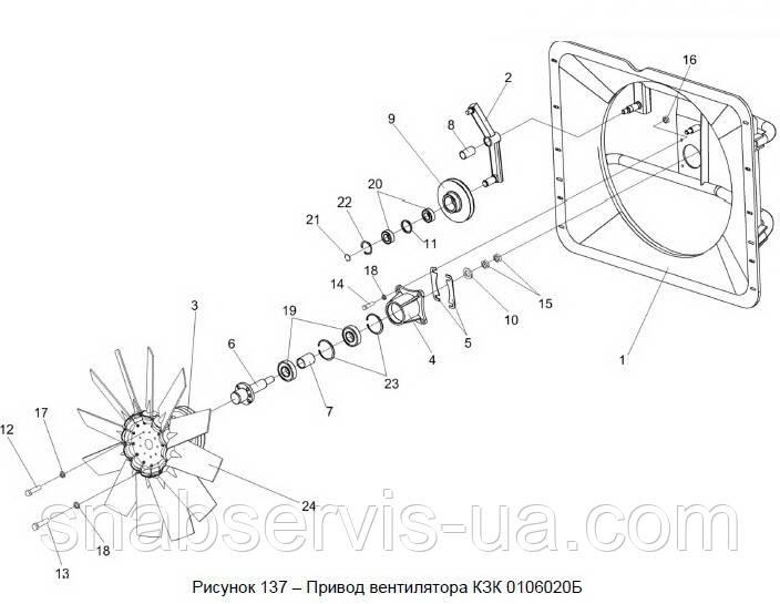 Привод вентилятора КЗС-812 в сборе