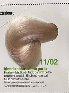 BBCos KeratinColor Безаммиачная краска для волос с кератином 11/02 блондин очень светлый жемчужный