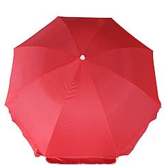 Пляжный зонт с наклоном Kronos Top Anti-UV 200 см Красный 127-12515310-2, КОД: 111790