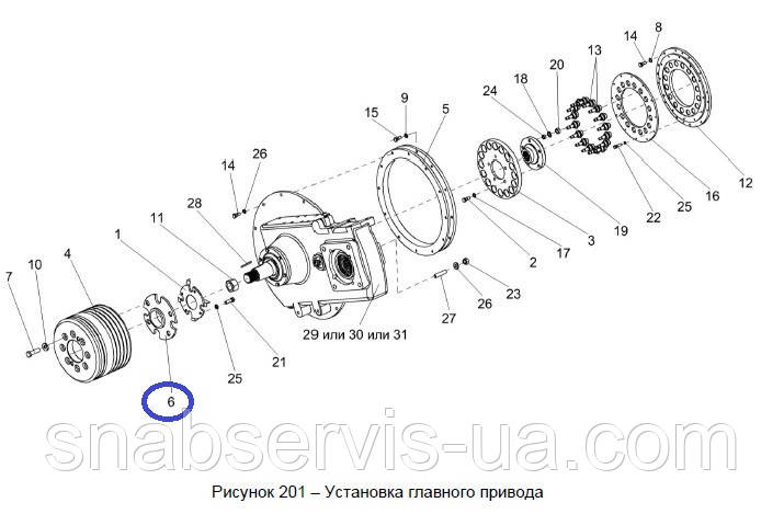 Ступица шкива главного к/привода КЗС-1218