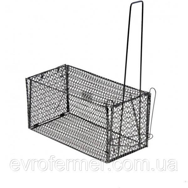 Металлическая крысоловка-клетка 140х140х275 мм