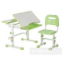 Растущая парта + стульчик для школьника Fundesk Lavoro Green, фото 3