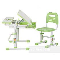 Растущая парта + стульчик для школьника Fundesk Lavoro Green, фото 2