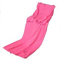 Флисовый плед с рукавами Snuggie халат детский, Розовый