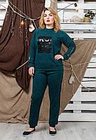 Костюм спортивный Коби зеленый на флисе, фото 1