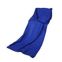 Флисовый плед с рукавами Snuggie халат детский, Синий
