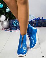 """Ботинки женские кожаные   """" Стайл""""  электирик, фото 1"""