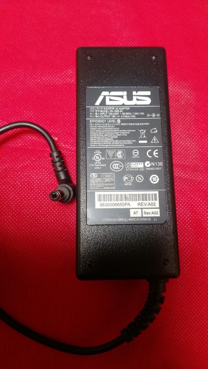 Блок питания для ноутбука ASUS 19V, 4.74A, 90W, 5.5*2.5мм, 3 hole, L-образный разъём, black (без кабеля !)