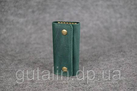 Ключница Gutalin из натуральной кожи ручной работы цвет зеленый