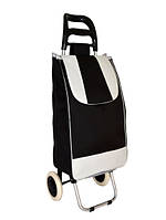 Тачка сумка с колесиками кравчучка металл 94см MH-2079, Черная, фото 1