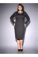 Элегантное трикотажное платье и болеро -1101
