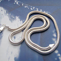Серебряная цепочка, 600мм, 16 грамм, плетение Снейк, фото 2