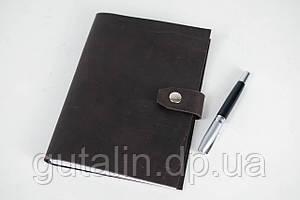 Кожаный блокнот А5 ручной работы цвет коричневый