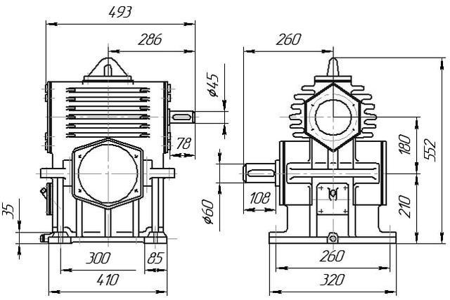 Схема редуктора РЧН-180