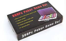 Набор для покера в алюминиевом кейсе на 300 фишек IG-2114 , фото 2