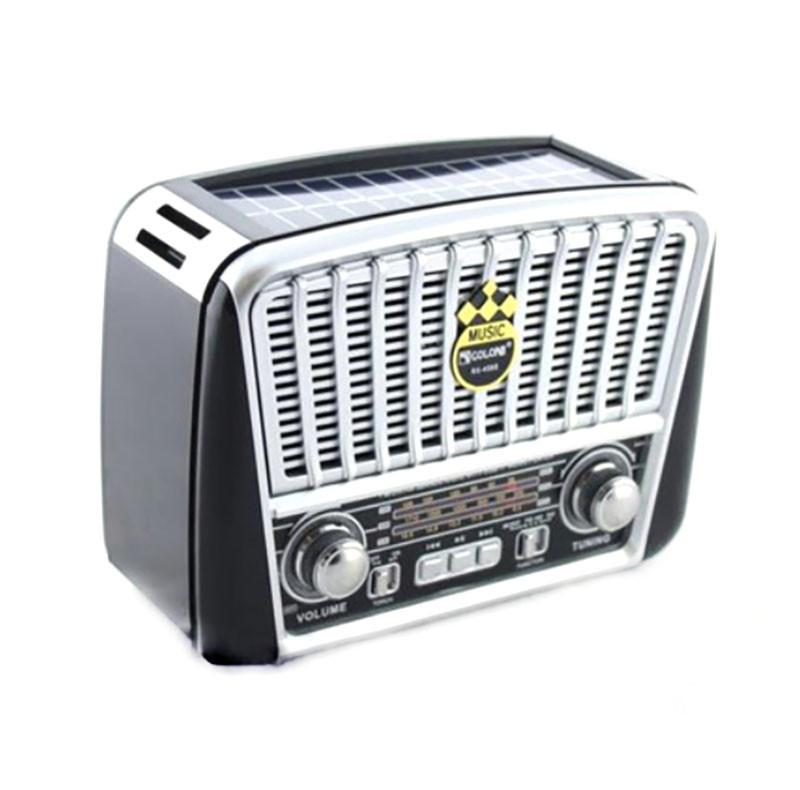 Портативна колонка MP3 USB Golon RX-456S Solar з сонячне панеллю, Black Grey