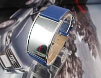Часы унисекс в стиле IWATCH на синем кожаном ремешке