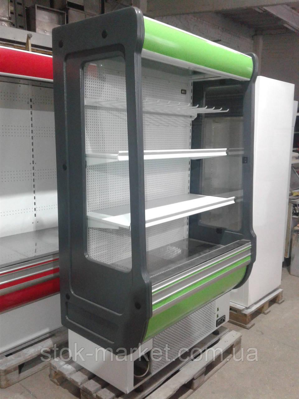 Холодильная горка Cold 1,24 м. б/у, холодильный регал б у, горка холодильная б у.