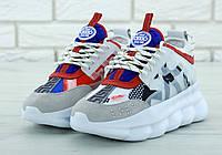 e3d08f70f711 Женские Кроссовки Versace Chain Reaction Sneakers Версаче (реплика)
