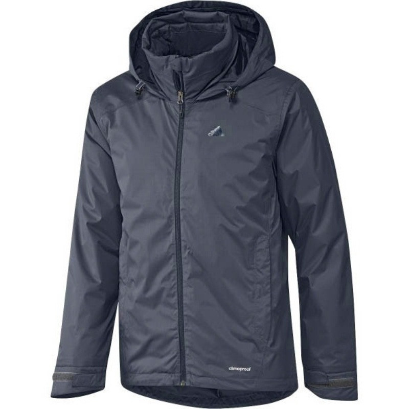 Куртка спортивная мужская adidas Ht Wt Padded J AA1950 (темно-синяя, осень-зима, синтепон, логотип адидас)