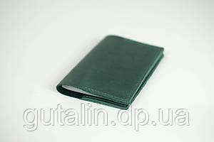 Обкладинка на паспорт з натуральної шкіри ручної роботи Стандарт колір зелений