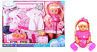 Кукла функц RT05056  с одеждой, расческой,в собран. кор. 56*41*14см