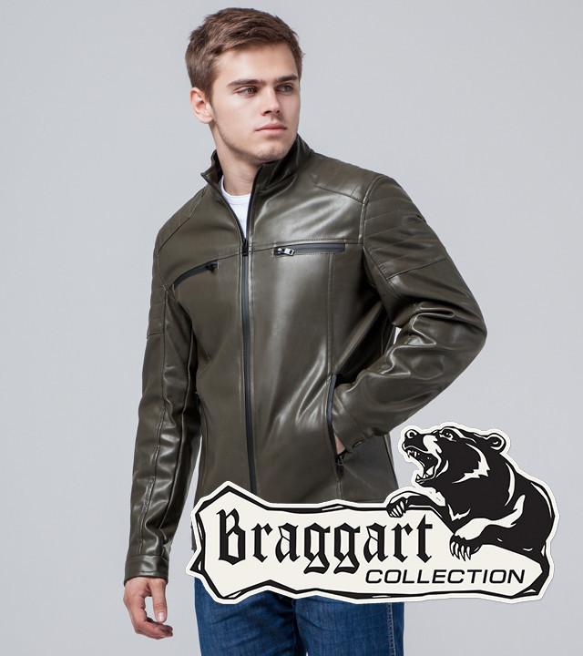 Braggart Youth | Куртка экокожа 3645 хаки р. 50 52 54 56