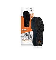 Kaps Pecari Carbon Black - Кожаные стельки для обуви, чёрные 40